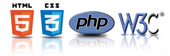 html5 css3 php logos